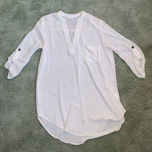 White Lush tunic blouse sz Sm